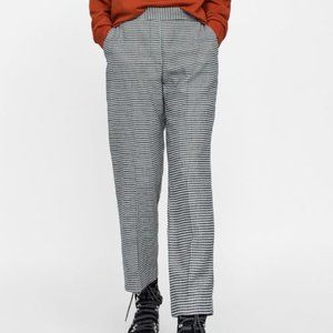 Vintage Houndstooth High Waisted Trouser Pant